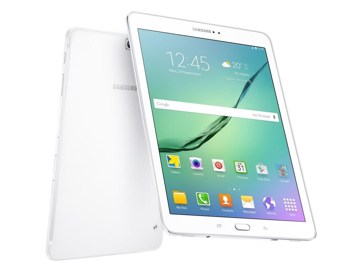 "Samsung Galaxy Tab S2 SM-T813 32 GB Tablet - 9.7"" - Wireless LAN Octa-core (8 Core) 1.80 GHz - White - 3 GB RAM - Android 6.0 Marshmallow - Slate - 2048 x 1536 Multi-touch Screen 4:3 Display-Large-Image-1"