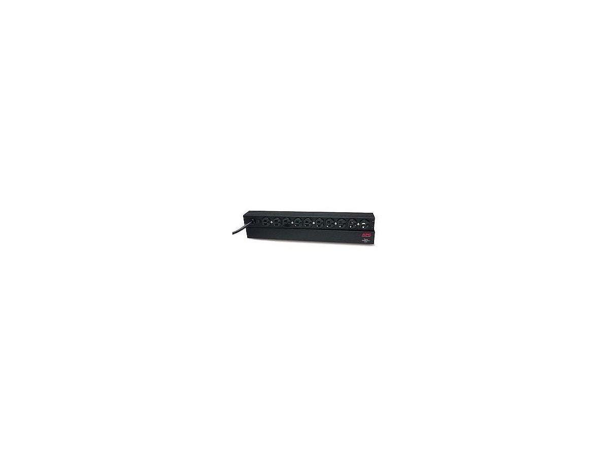 "APC Basic Rack 1.8kVA PDU - 10 x NEMA 5-15R - 1.8kVA - 1U 19"" Rack-mountable-Large-Image-1"