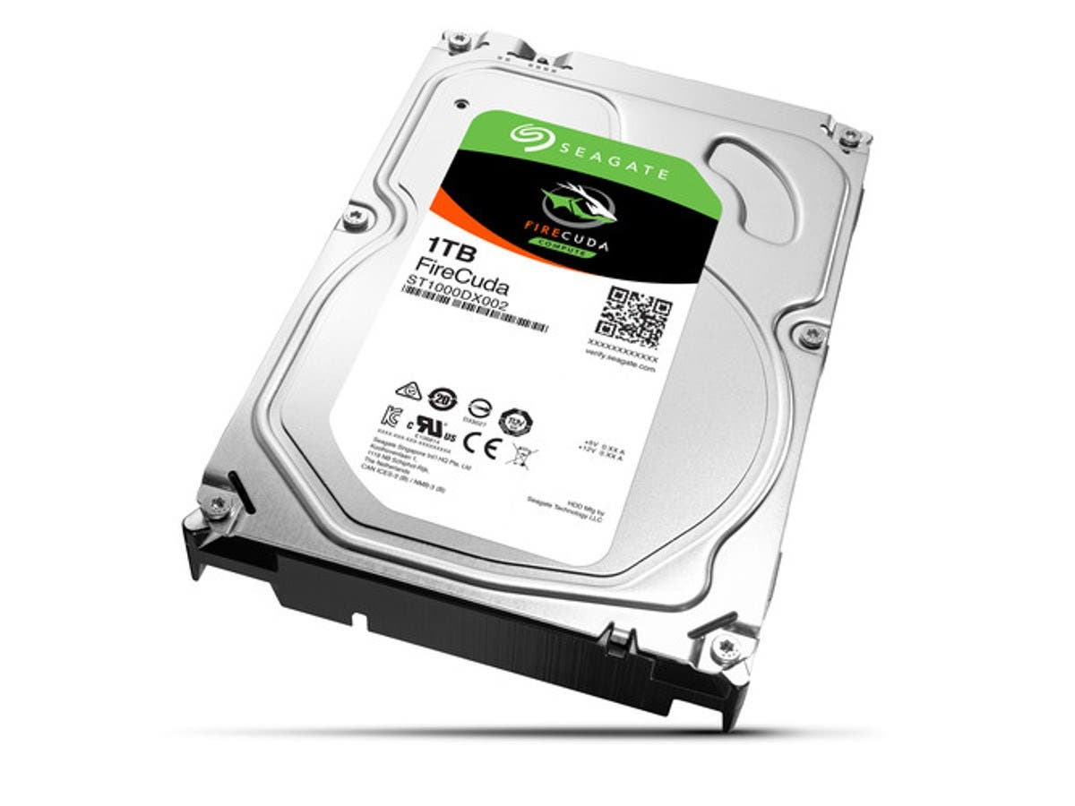 "Seagate FireCuda ST1000DX002 1 TB 3.5"" Internal Hybrid Hard Drive - SATA - 7200rpm - 64 MB Buffer - 25 Pack-Large-Image-1"