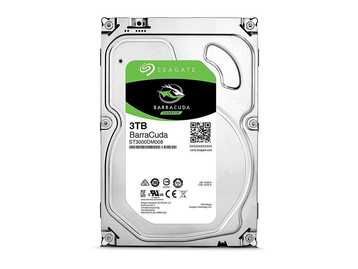 "Seagate ST3000DM008-20PK 3TB BarraCuda 7200 RPM 3.5"" SATA 6Gb/s Hard Drive with 64MB Cache 20-pack -Large-Image-1"