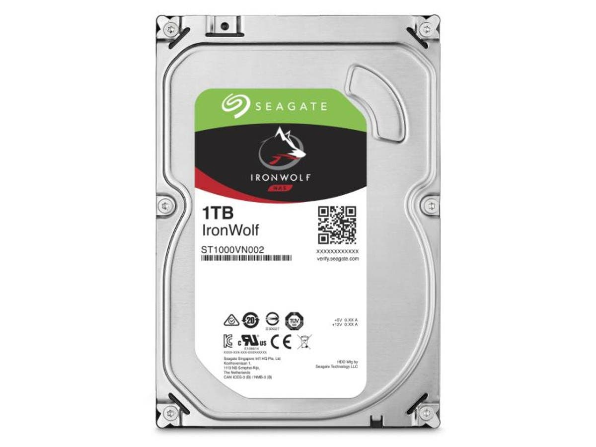 "Seagate 1TB IronWolf SATA 6Gb s 5900RPM 3.5"" Internal Hard Drives - 64MB Cache (25-pack)"