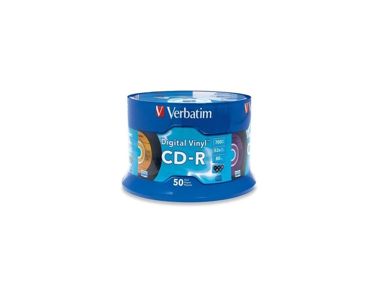 Verbatim CD-R 80min 52X with Digital Vinyl Surface - 50pk Spindle - 700MB - 50 Pack-Large-Image-1