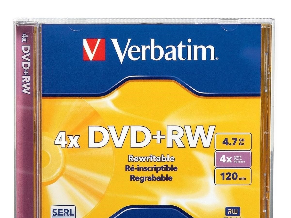 Verbatim DVD+RW 4.7GB 4X with Branded Surface - 1pk Jewel Case - TAA Compliant - 2 Hour Maximum Recording Time-Large-Image-1