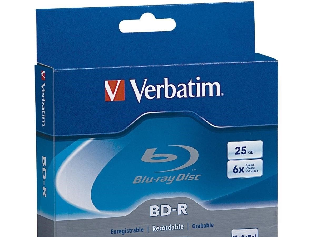 Verbatim BD-R 25GB 6X with Branded Surface - 3pk Jewel Case Box - TAA Compliant - 25GB - 120mm Standard - 3 Pack Jewel Case-Large-Image-1
