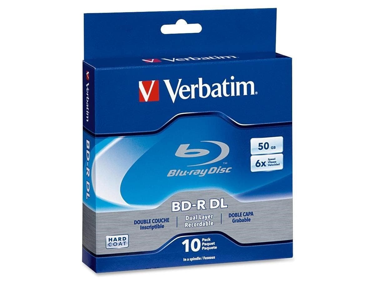 Verbatim BD-R DL 50GB 6X with Branded Surface - 10pk Spindle Box - TAA Compliant - 50GB - 10pk Spindle Box