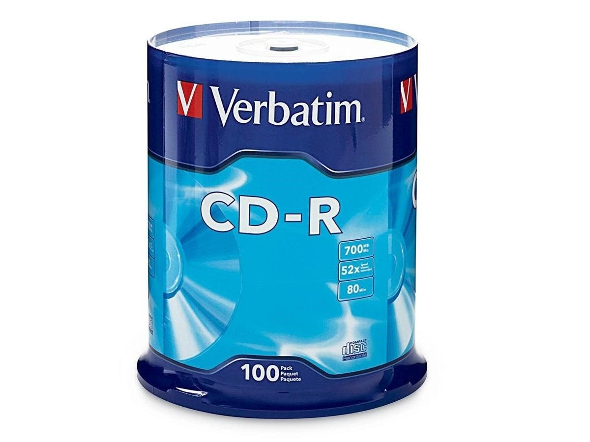 Verbatim CD-R 700MB 52X with Branded Surface - 100pk Spindle-Large-Image-1