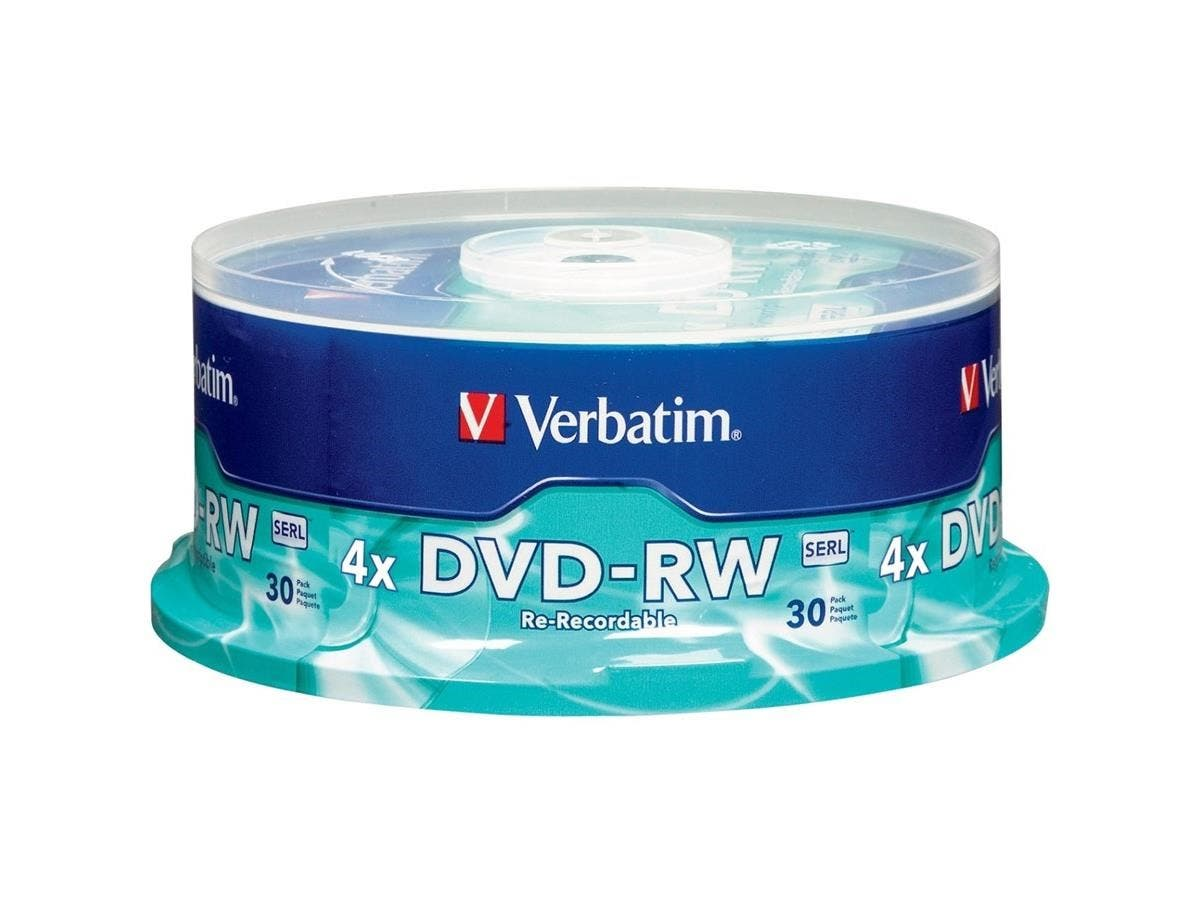Verbatim DVD-RW 4.7GB 4X with Branded Surface - 30pk Spindle - TAA Compliant - 4.7GB - 30 Pack