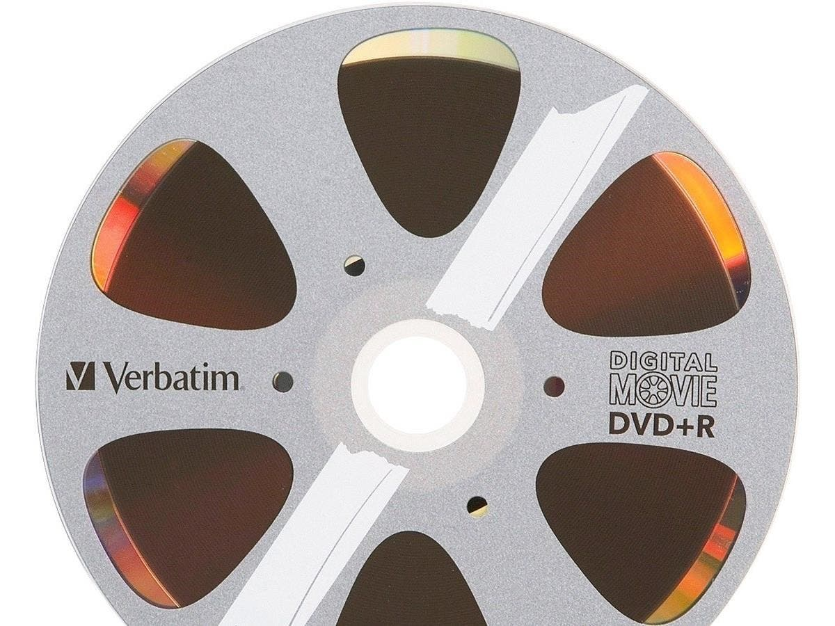 Verbatim DVD+R 4.7GB 8X with DigitalMovie Surface - 10pk Bulk Box - TAA Compliant - 120mm - 2 Hour Maximum Recording Time-Large-Image-1