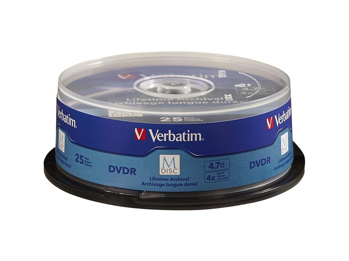 M-Disc DVDR 4.7GB 4X with Branded Surface - 25pk Spindle - TAA Compliant - 120mm - 2 Hour Maximum Recording Time