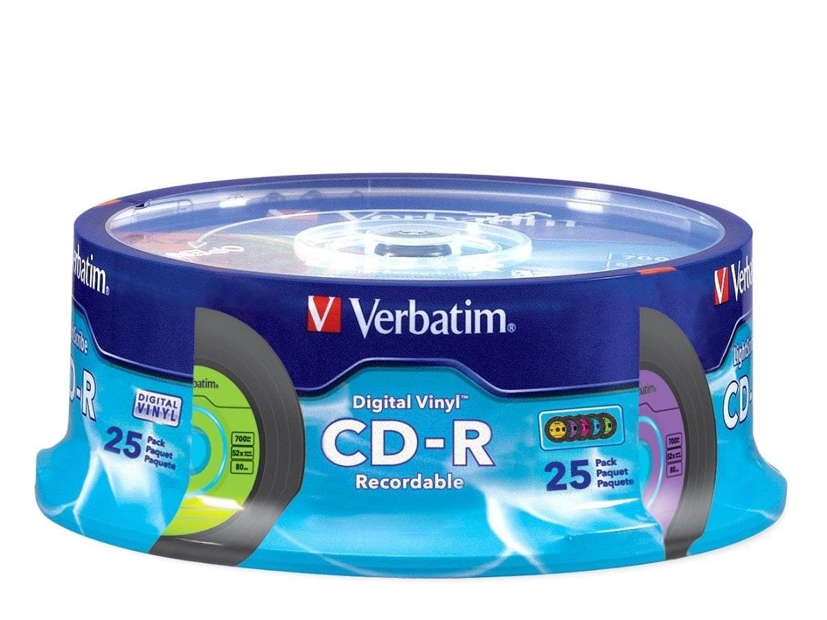 Verbatim CD-R 80min 52X with Digital Vinyl Surface - 25pk Spindle - 80min - 700MB - 25pk Spindle