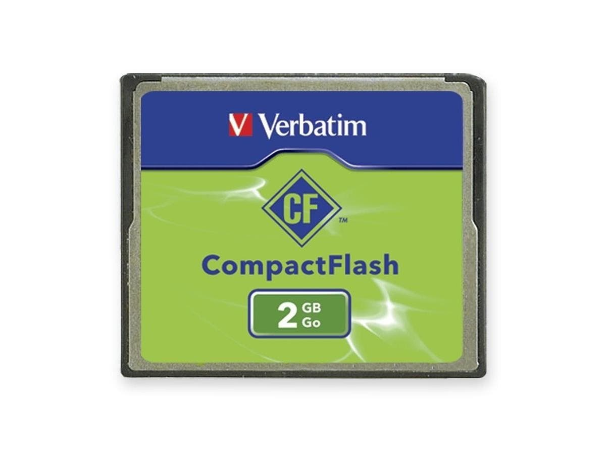 Verbatim 2GB CompactFlash Memory Card - TAA Compliant - 1 Card/1 Pack-Large-Image-1