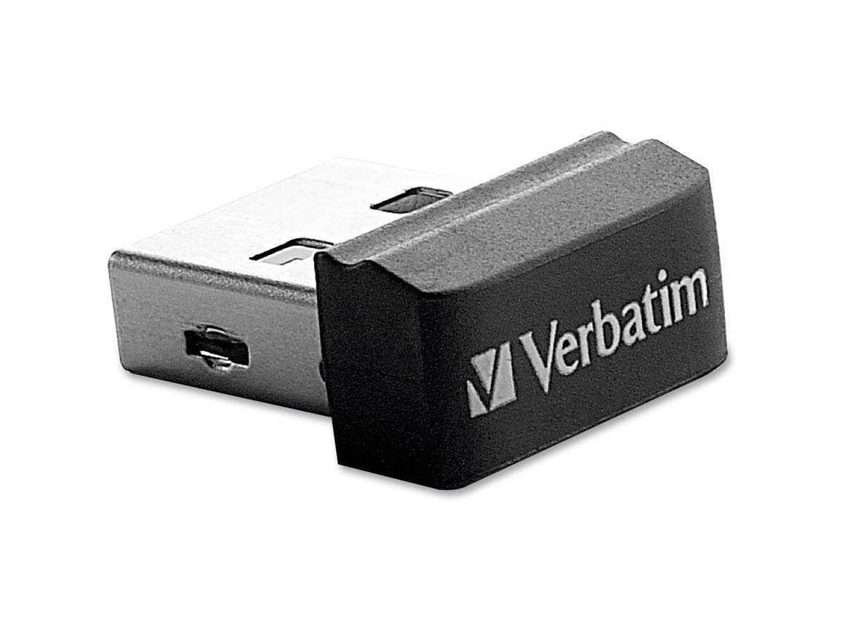 Verbatim 16GB Store 'n' Stay Nano USB Flash Drive - Black - 16 GB USB Nano - Black - 1 Pack-Large-Image-1
