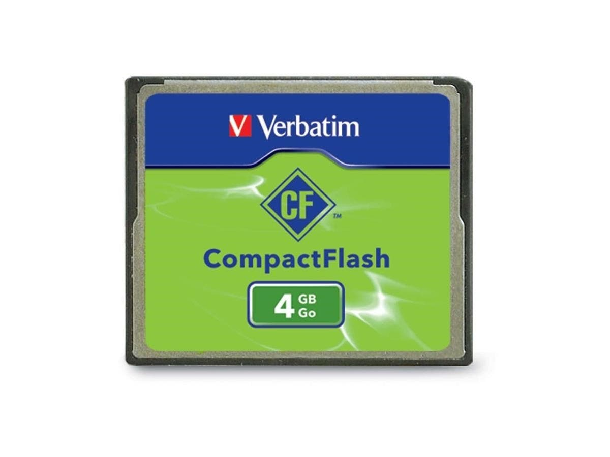 Verbatim 4GB CompactFlash Memory Card - TAA Compliant - 1 Card/1 Pack-Large-Image-1