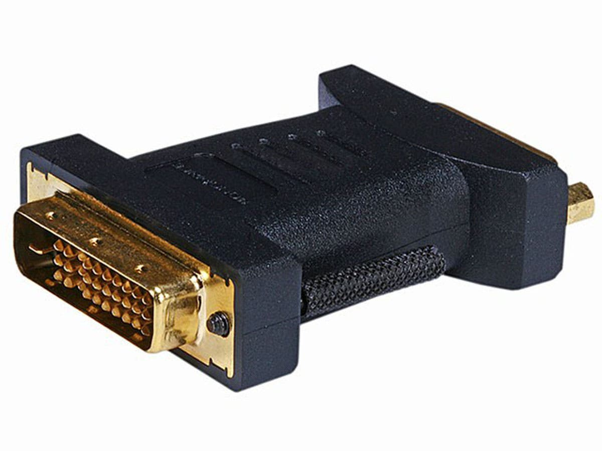 M1-D(P&D) Male to DVI-D Dual Link Female Adapter (Gold Plated)