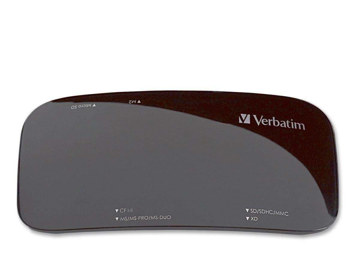 Verbatim Universal Card Reader, USB 2.0 - Black - 15-in-1 - CompactFlash Type I, CompactFlash Type II, Microdrive, Memory Stick Duo, Memory Stick PRO, Memory Stick PRO Duo, Memory Stick MagicGate Duo,-Large-Image-1