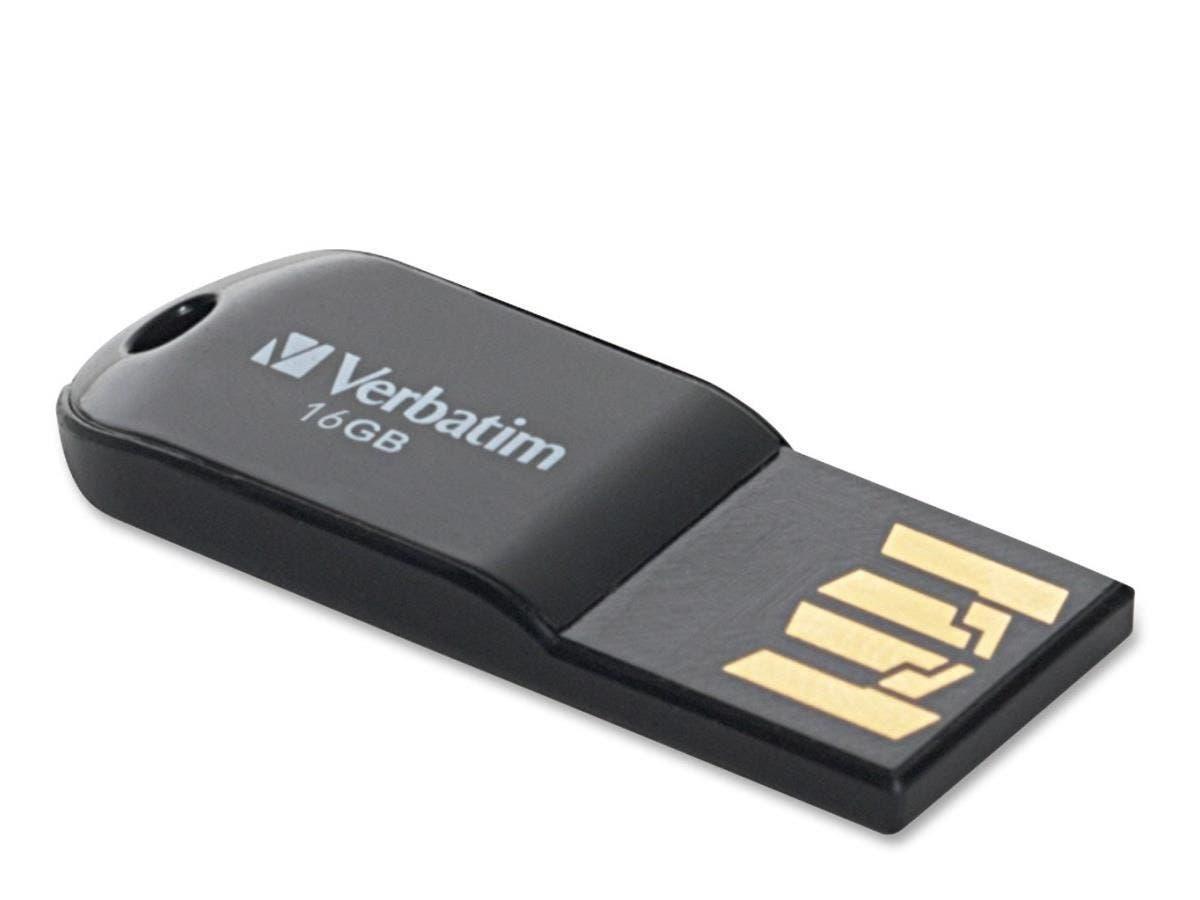 Verbatim 16GB Micro USB Flash Drive - Black - 16GB - USB - Black - 1 Pack