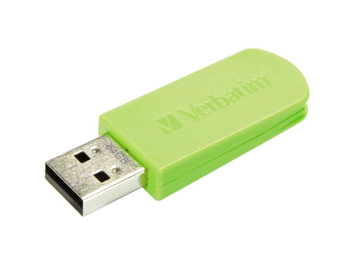 Verbatim 64GB Mini USB Flash Drive - Green - 64 GB - Eucalyptus Green - 1 Pack