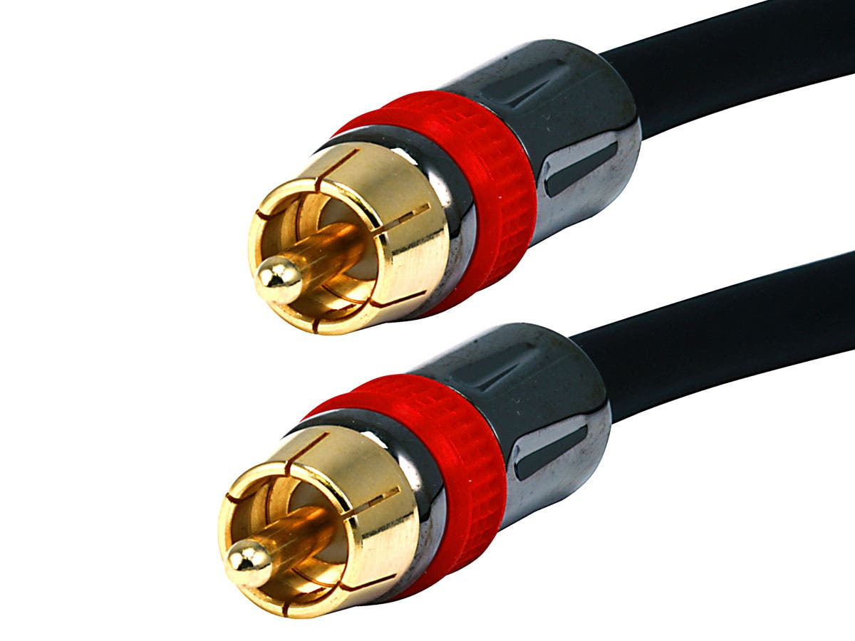 High-quality Coaxial Audio/Video RCA CL2 Rated Cable 6ft