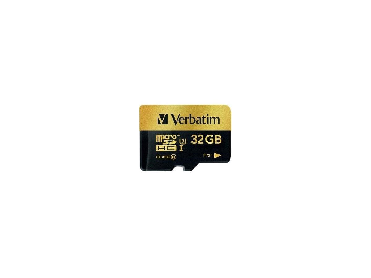 Verbatim Pro+ 32 GB microSDHC - TAA Compliant - Class 10/UHS-I (U3) - 90 MB/s Read - 80 MB/s Write-Large-Image-1