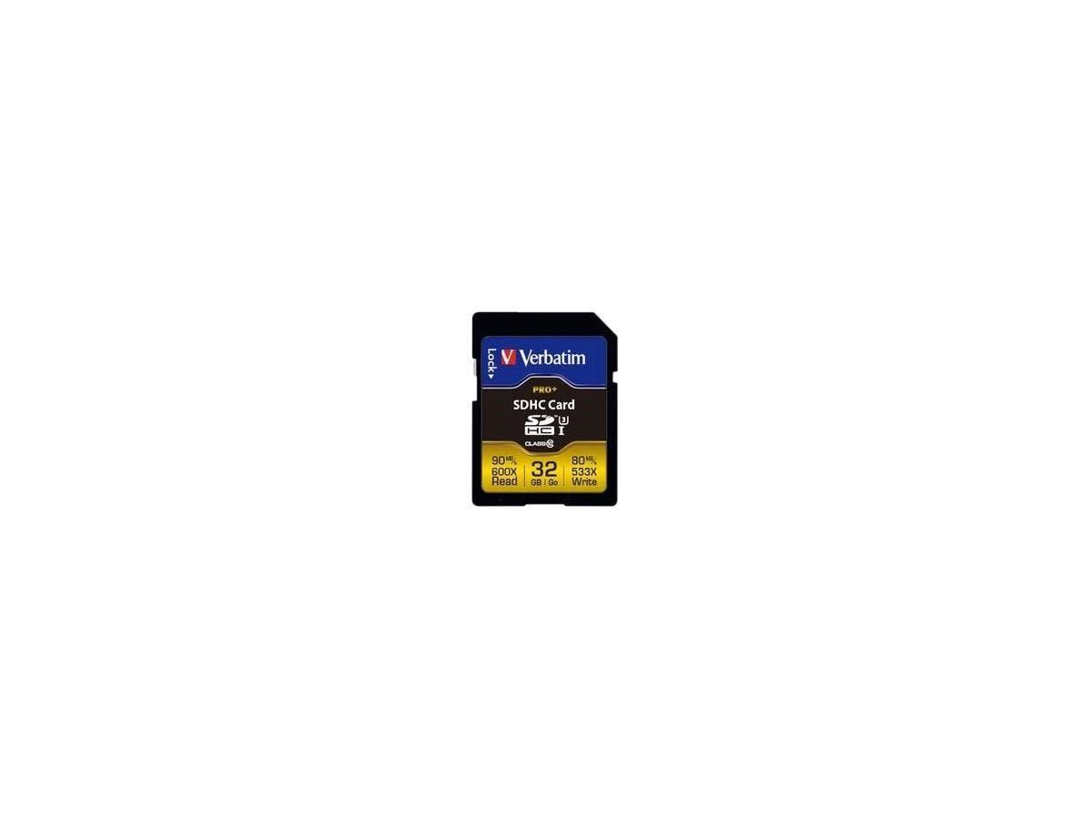 Verbatim Pro+ 32 GB SDHC - Class 10/UHS-I (U3) - 90 MB/s Read - 80 MB/s Write-Large-Image-1