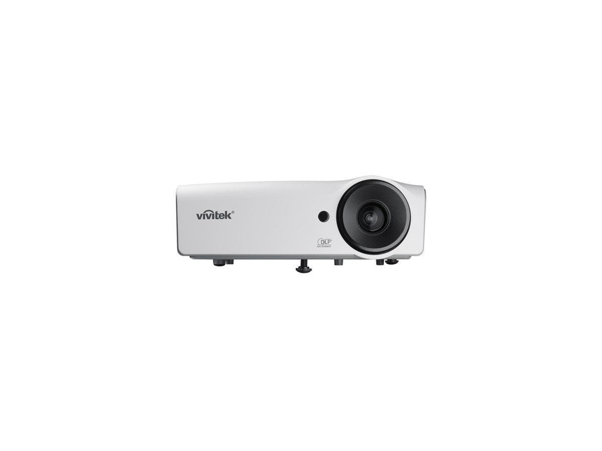 Vivitek D555 3D Ready DLP Projector - 720p - HDTV - 4:3 - F/2.52 - 2.73 - 190 W - NTSC, PAL, SECAM - 5000 Hour Normal Mode - 1000 Hour Economy Mode - 1024 x 768 - XGA - 15,000:1 - 3000 lm - HDMI - USB-Large-Image-1