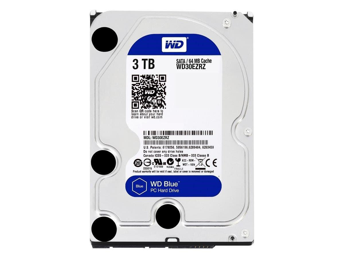 "WD Blue WD30EZRZ-20PK 3 TB 3.5"" Internal Hard Drive - SATA - 5400rpm - 64 MB Buffer - 20 Pack"