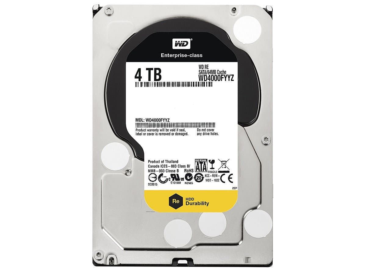 WD 4TB 3.5 Inch SATA III, 7200 RPM, 64 MB Cache Enterprise Hard Drive (WD4000FYYZ) -Large-Image-1