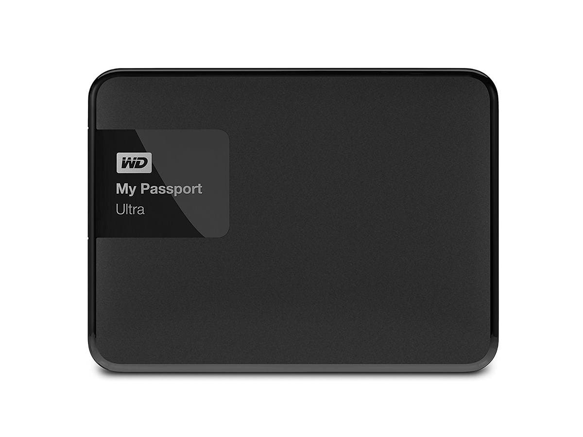 WD 2TB Black My Passport Ultra Portable External Hard Drive - USB 3.0 - WDBBKD0020BBK-NESN -Large-Image-1