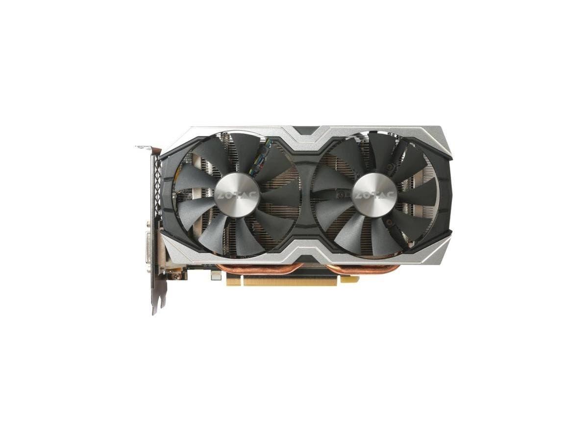 Zotac GeForce GTX 1060 AMP! Edition - 1.56 GHz Core - 1.77 GHz Boost Clock - 6 GB GDDR5 - PCI Express 3.0 - Dual Slot Space Required - 192 bit Bus Width - Fan Cooler - OpenGL 4.5