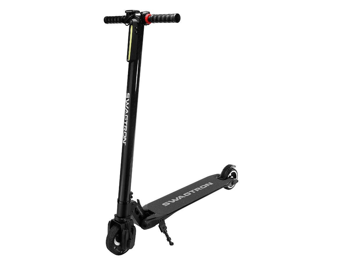 SWAGTRON Swagger High Speed Adult Electric Scooter Ultra-Lightweight Carbon Fiber-Large-Image-1