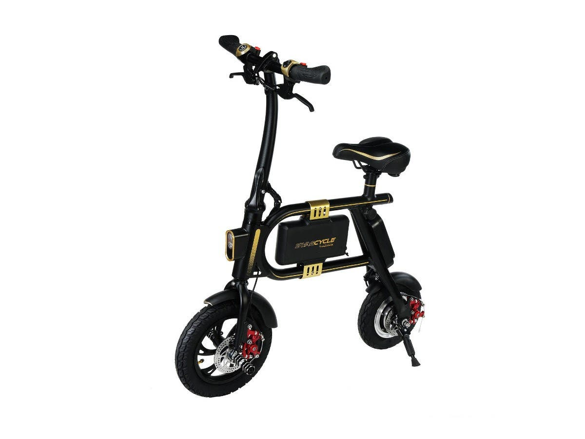 SWAGTRON SwagCycle E-Bike Folding Electric Bicycle 10 Mile Range Collapsible-Large-Image-1