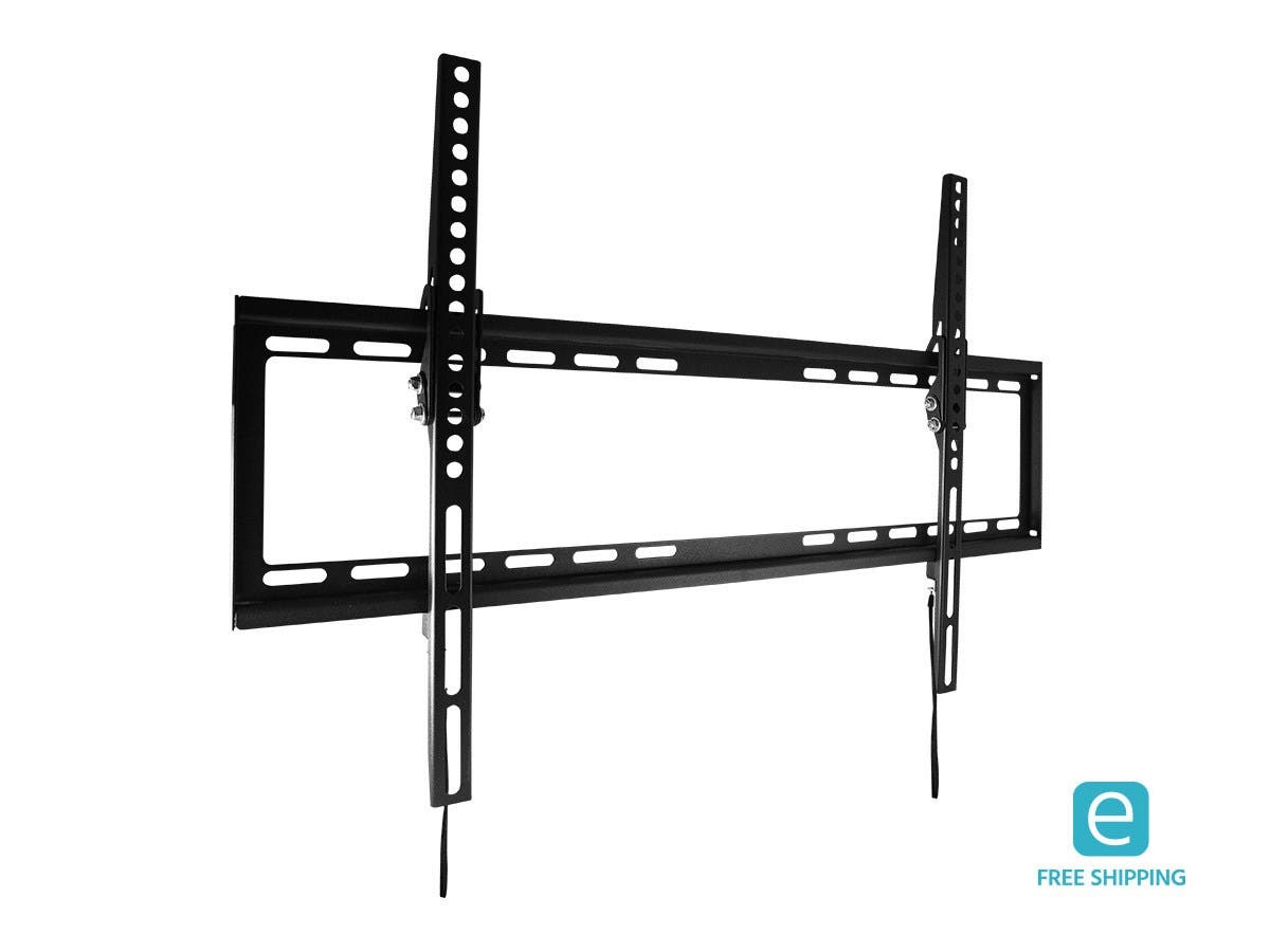 Monoprice Essentials Ultra-Slim Tilt TV Wall Mount Bracket - For TVs Up to 70in, Max Weight 77lbs, VESA Patterns Up to 600x400, UL Certified-Large-Image-1