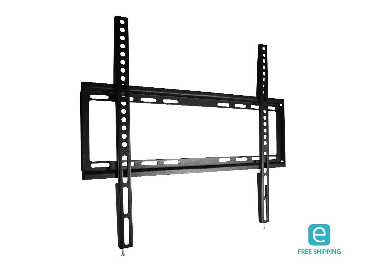 Monoprice Essentials Ultra-Slim Fixed TV Wall Mount Bracket - For TVs Up to 55in, Max Weight 77lbs, VESA Patterns Up to 600x400, UL Certified-Large-Image-1