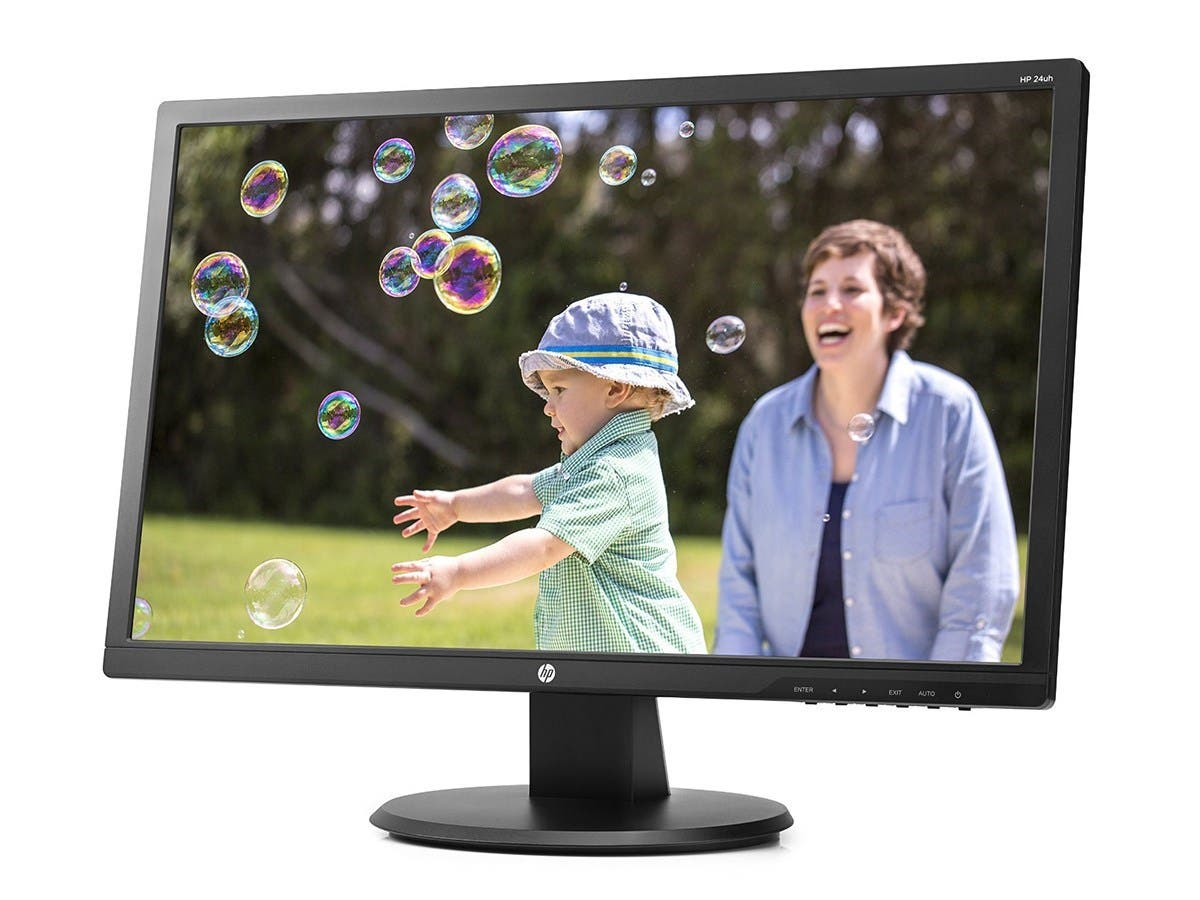 """HP 24uh 24"""" LED LCD Monitor - 16:9 - 5ms 1920 x 1080 - 16.7 Million Colors - 250 Nit (Open Box)"""