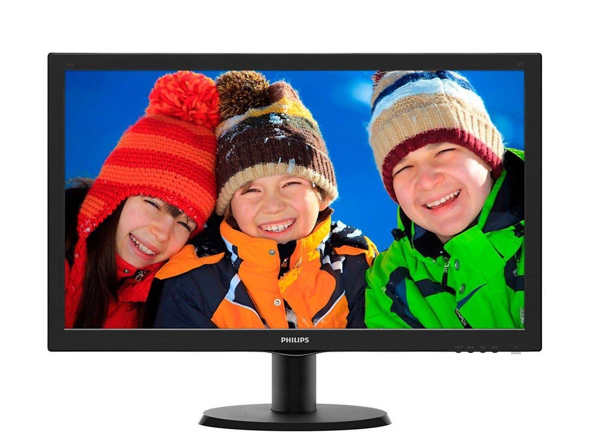 "Philips V-line 243V5LSB 23.6"" LED LCD Monitor - 16:9 - 5ms - 1920 x 1080 - 16.7 Million Colors - 250 Nit (Open Box)"