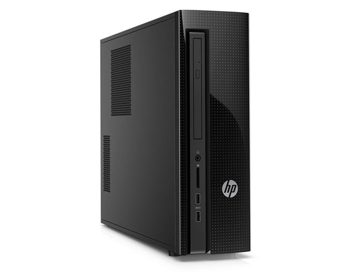 HP - Slimline Desktop - Intel Celeron - 4GB Memory - 500GB Hard Drive - Black Diamond/Gray (Open Box)
