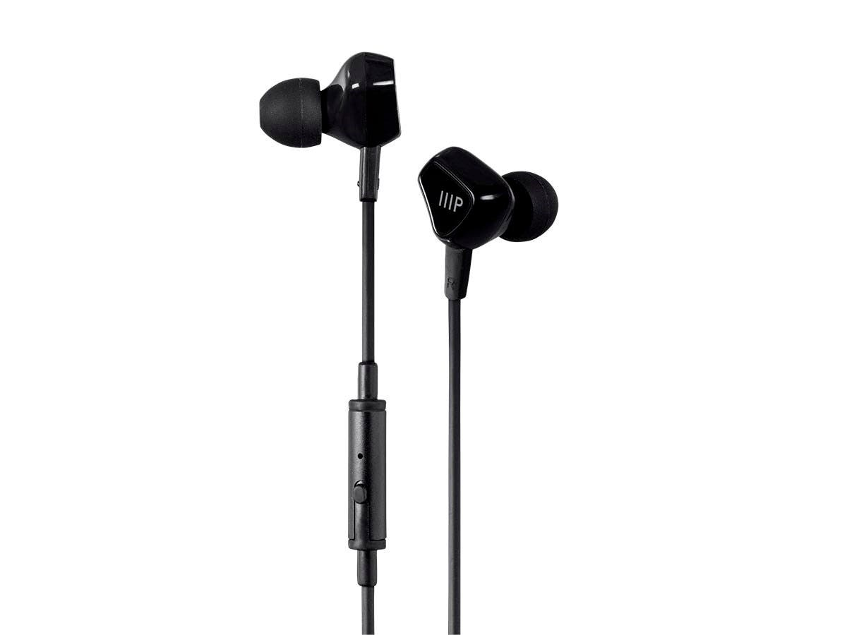 Triple XXX Triple Driver Earbuds Headphones w/ In-line Mic and 1-button Control (Open Box)