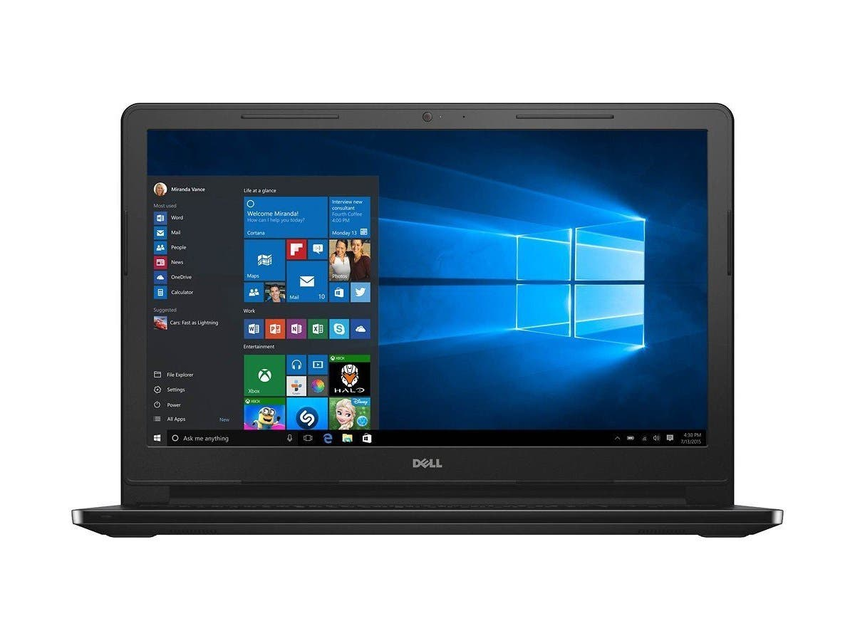 "Dell Inspiron 15.6"" Touch-Screen Laptop Core i5 8GB 1TB HDD Win10 I3558-5501BLK (Open Box)"