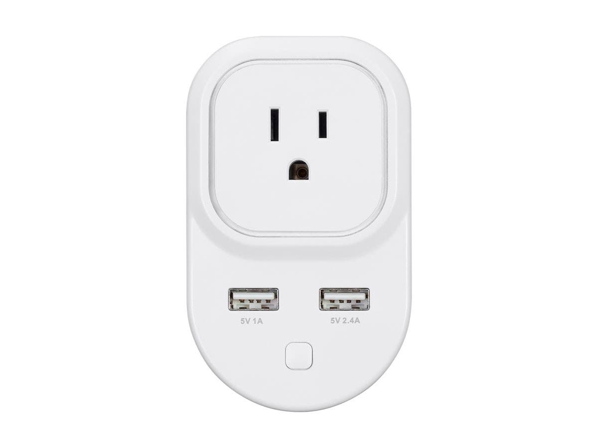 Z-Wave Plus Smart Plug and Repeater with 2 USB Ports (Works with ...