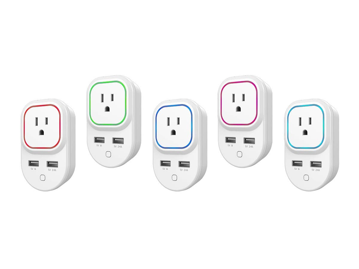 Monoprice Z Wave Plus Smart Plug And Repeater With 2 Usb Ports Wall Outlet Plugged Wiring Devices Home Office Ac Device Works