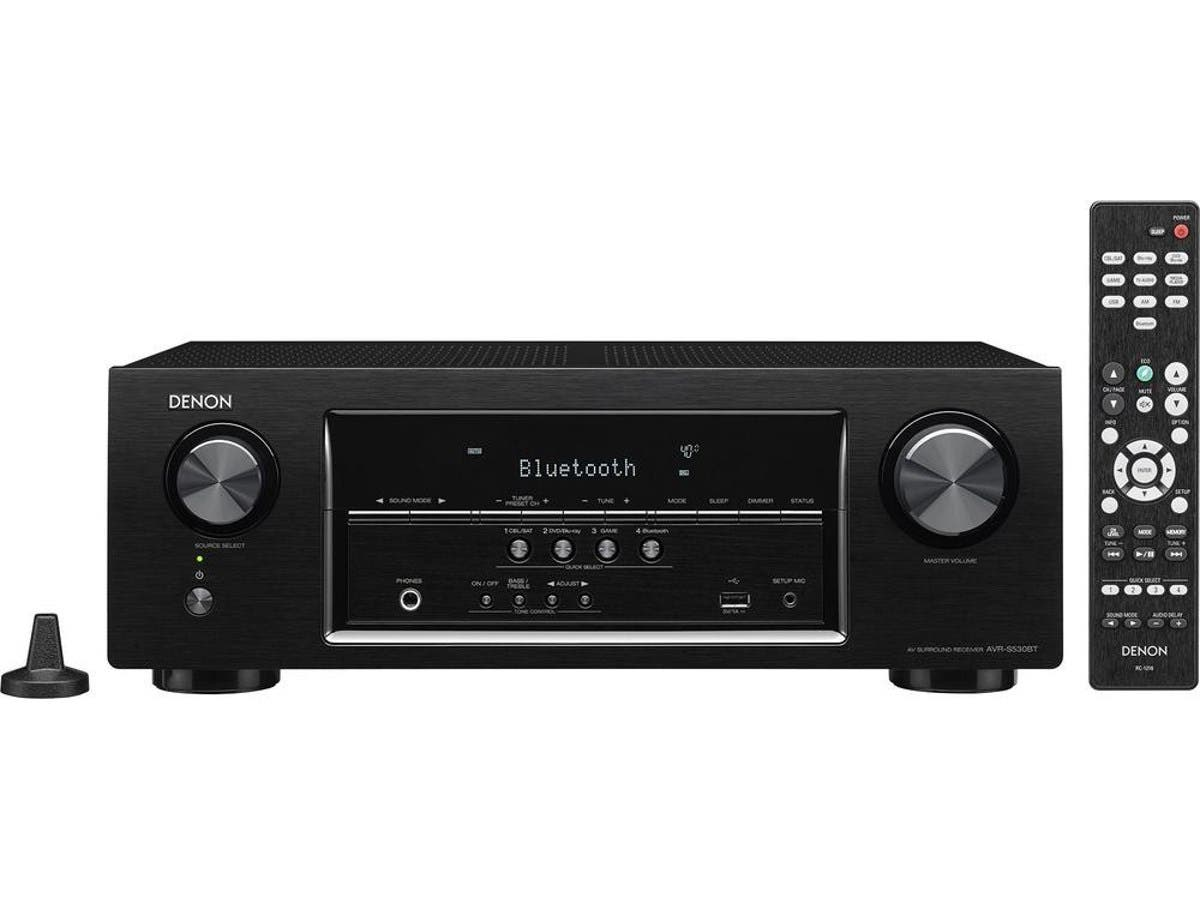 Denon AVR-S530BT 5.2-Ch. 4K Ultra HD and 3D Pass-Through A/V Home Theater Receiver - Black