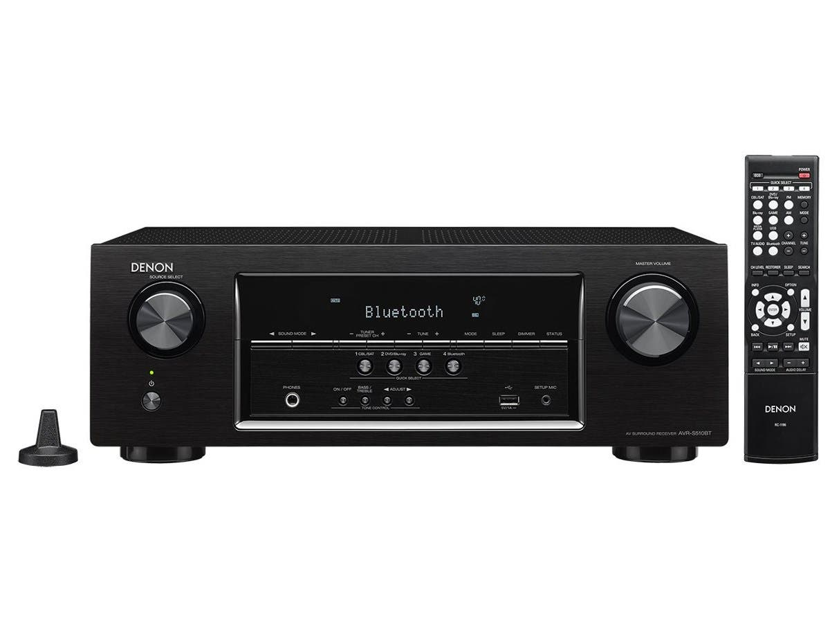 Denon AVR-S730H 1155W 7.2-Ch. Dolby Atmos & DTS:X Hi-Res With HEOS 4K Ultra HD A/V Home Theater Receiver - Black