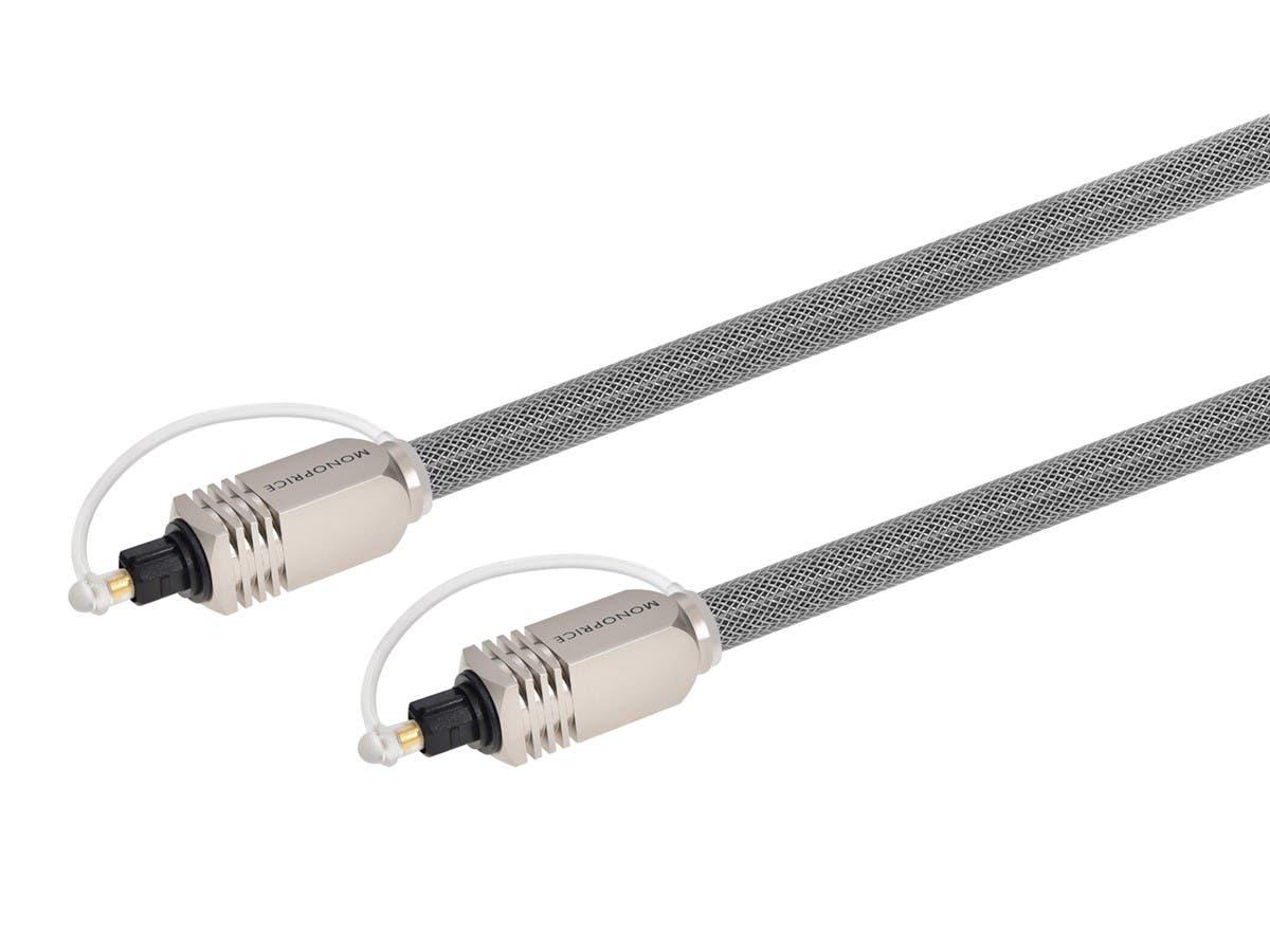 Premium S/PDIF (Toslink) Digital Optical Audio Cable, 50ft