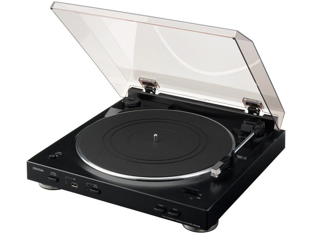 Denon DP-200USB Fully Automatic Turntable with MP3 Encoder-Large-Image-1