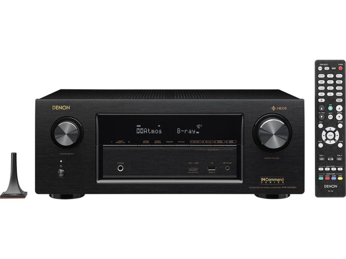 Denon AVR-X2400H 7.2-channel Dolby Atmos & DTS:X Hi-Res With HEOS 4K Ultra HD HDR Compatible A/V Home Theater Receiver
