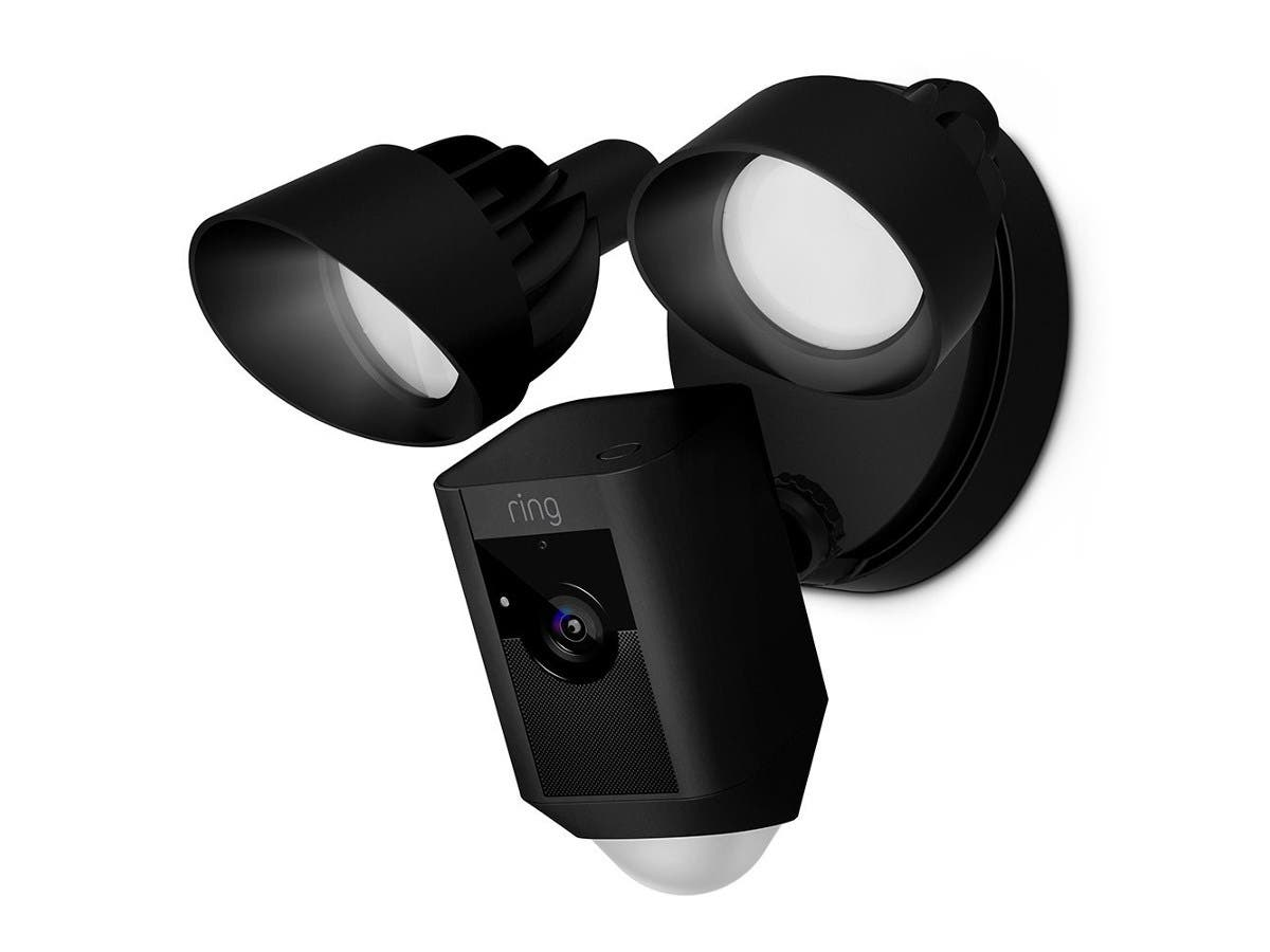 Ring Floodlight Camera Motion-Activated HD Security Cam Two-Way Talk and Siren Alarm - Black-Large-Image-1