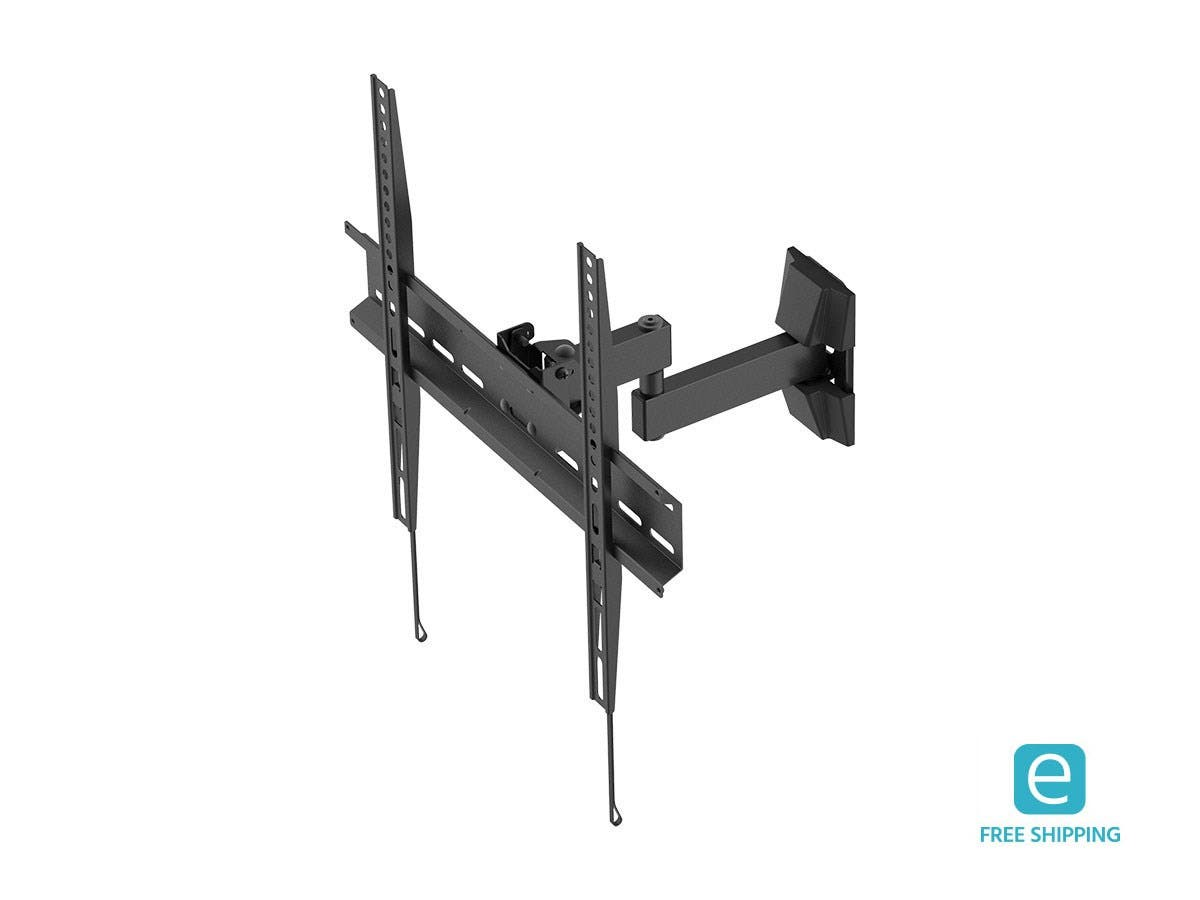 Monoprice Full-Motion Articulating TV Wall Mount Bracket - For TVs 32in to 55in, Max Weight 44lbs, Extension Range of 3.3in to 12.9in, Rotating-Large-Image-1