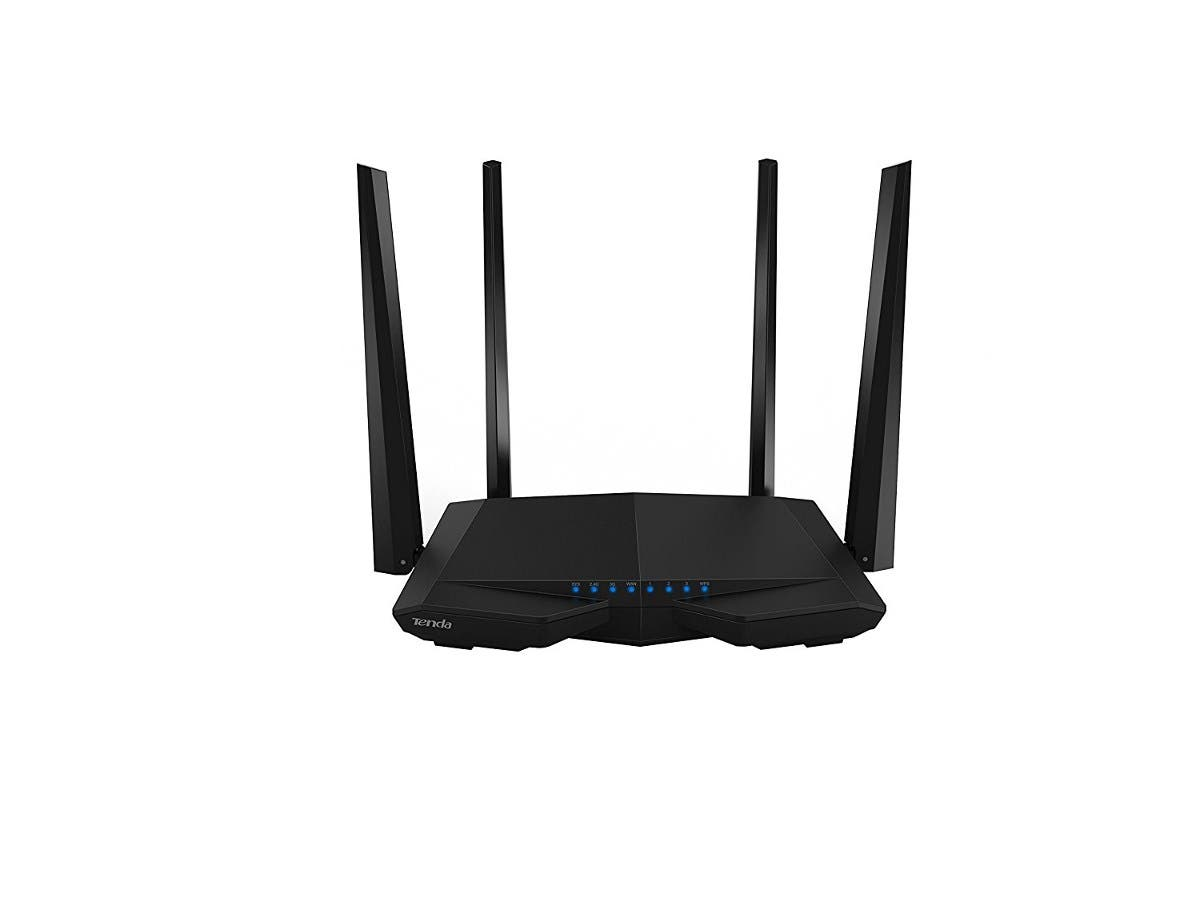 Tenda AC6 AC1200 Smart Dual-Band WiFi Router - 2.40 GHz ISM Band - 5 GHz UNII Band(4 x External) - 1200 Mbit/s Wireless Speed - 3 x Network Port - 1 x Broadband Port-Large-Image-1