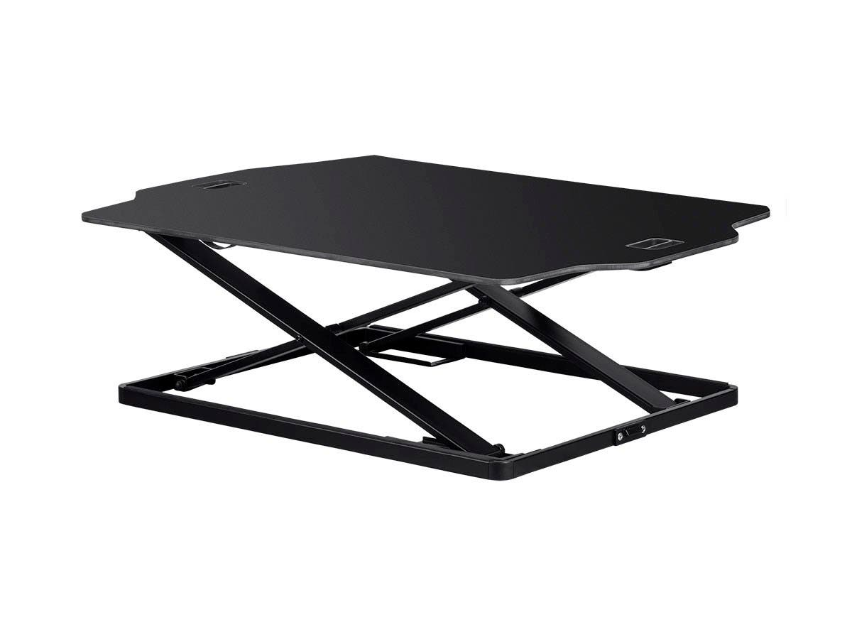 Workstream by Monoprice Ultra-Slim Sit-Stand Table Desk Converter, Black-Large-Image-1
