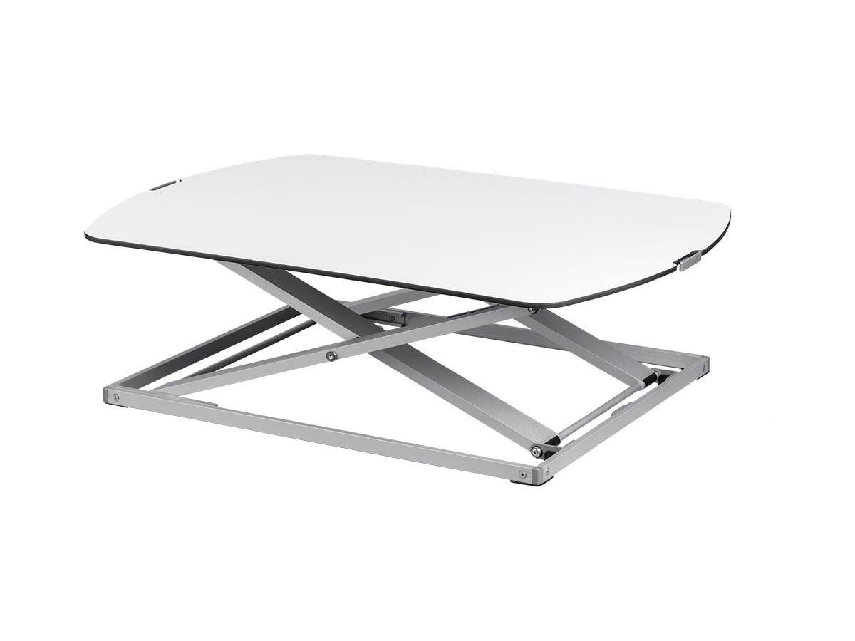Ultra-Slim Height Adjustable Sit-Stand Table Desk Converter, Premium Aluminum